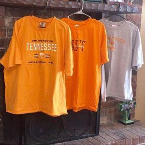 Lot of 3 TN Volunteers t shirts